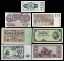 Lot of (7) Assorted Europe Notes