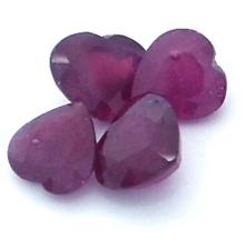 9.72ctw Heart Mixed Ruby Parcel