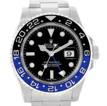 Rolex GMT Master II Batman Blue Black Ceramic Mens Watch