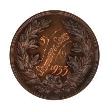 1933 England Baker Devon Castle Engraved Award Medal