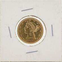 1901 $5 Liberty Head Half Eagle Gold Coin