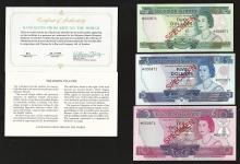 Set of (3) Solomon Islands Specimen Bank Notes