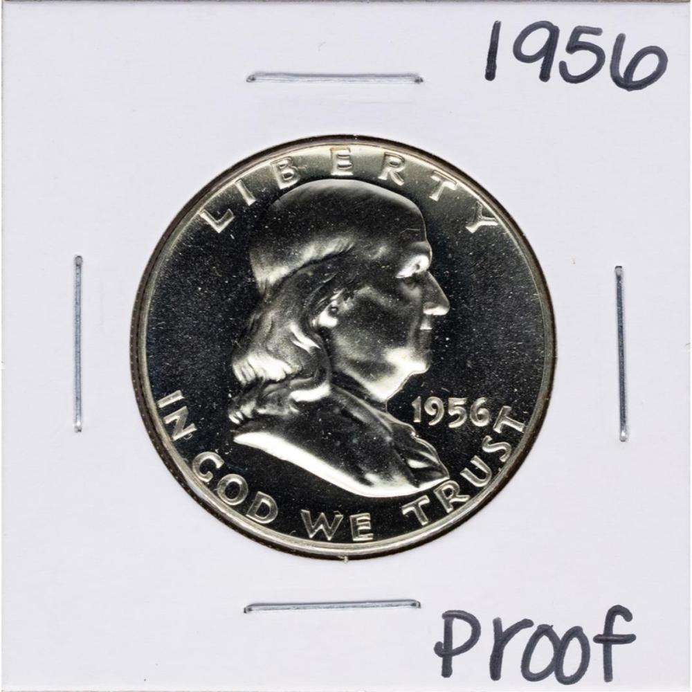 1956 Proof Franklin Half Dollar Coin