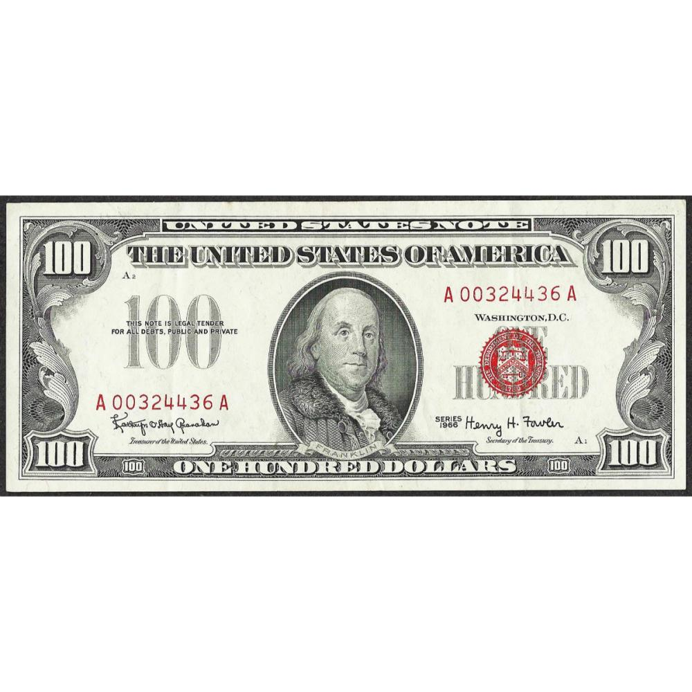 1966 $100 Legal Tender Note