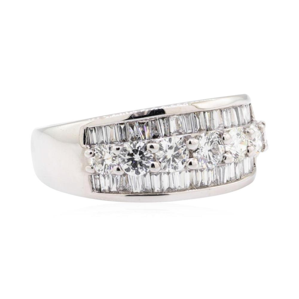 14KT White Gold 1.66 ctw Diamond Wedding Band