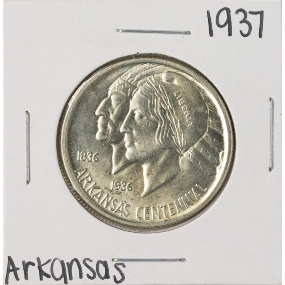 1937 Arkansas Centennial Commemorative Half Dollar Coin