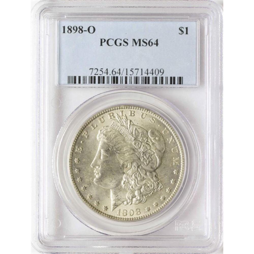 1898-O $1 Morgan Silver Dollar Coin PCGS MS64