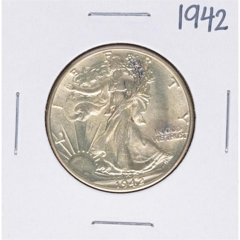 1942 Walking Liberty Half Dollar Coin
