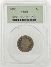 1885 Liberty V Nickel Coin PCGS MS65PR
