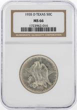 1935-D Texas Half Dollar Coin NGC MS66