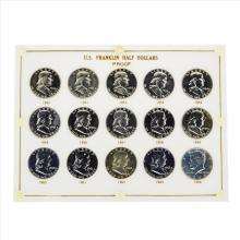 1950-1964 Franklin Half Dollar Proof Set Coins