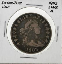 1803 Large 3 Draped Bust Half Dollar Silver Coin