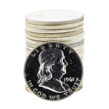 Roll of (20) 1961 Proof Franklin Half Dollar Silver Coins