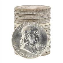 Roll of (20) 1962D Brilliant Uncirculated Franklin Half Dollar Coins