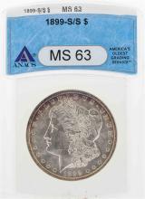 1899-S/S $1 Morgan Silver Dollar Coin ANACS MS63