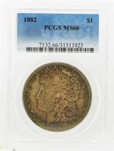 1882 $1 Morgan Silver Dollar PCGS Graded MS66