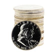 Roll of (20) 1963 Franklin Proof Silver Half Dollar Coins
