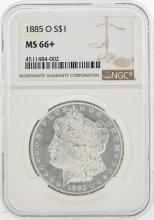 1885-O $1 Morgan Silver Dollar Coin NGC MS66+