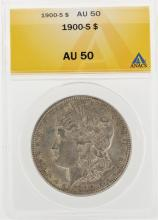 1900-S $1 Morgan Silver Dollar Coin ANACS AU50