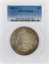 1885-S $1 Morgan Silver Dollar Coin PCGS Graded MS64