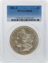 1881-S $1 Morgan Silver Dollar PCGS Graded MS65