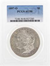 1897-O $1 Morgan Silver Dollar Coin PCGS AU50