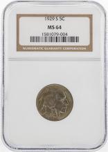 1929-S Buffalo Nickel Coin PCGS MS64