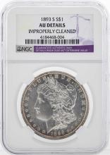 1893-S $1 Morgan Silver Dollar Coin NGC AU Details