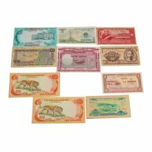 Lot of (9) Assorted Vietnam Notes