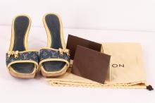 Authentic Louis Vuitton Denim High Heels