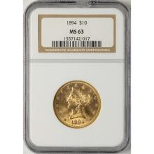 United States $10 Eagle Gold Coins for Sale at Online Auction | Buy