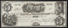 1835 $5 The Bank of Washtenaw Michigan Obsolete Bank Note