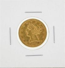 1874-S $5 Liberty Head Half Eagle Gold Coin
