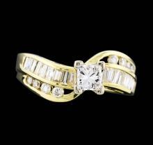 14KT Yellow Gold 1.15ctw Diamond Ring