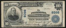 1902 $10 The Peekskill National Bank New York National Currency Note