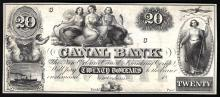1800s $20 Canal Bank of New Orleans Obsolete Bank Note