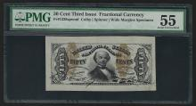 50 Cent Third Issue Fractional Currency Colby Spinner Specimen Note PMG AU55