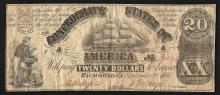 1861 $20 The Confederate States of America Note