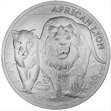 2016 1 oz Congo Silver African Lion BU Coin