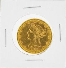 1884-S $10 Liberty Head Eagle Gold Coin AU
