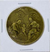 1700's Italy Religious Medal Rome Jesus Mary Joseph