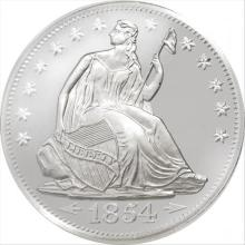 1 oz HM Seated Liberty Silver Round