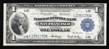 1918 $1 Large Size National Currency Note San Francisco, California