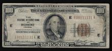 1929 $100 The Federal Reserve Bank of Richmond VA Note