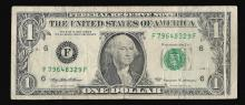 1999 $1 Federal Reserve Note ERROR Gutterfold