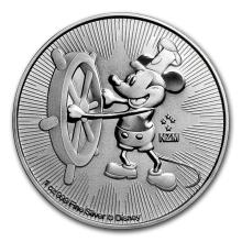 2017 $2 Niue Disney Steamboat Willy Mickey Mouse Silver Coin