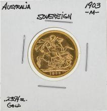 1903-M Australia Gold Sovereign Coin