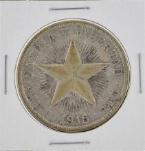 1915 Cuba Silver Peso Coin