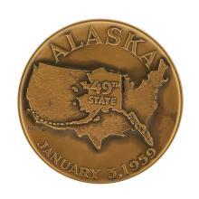 1959 Alaska Statehood Medal 49th State