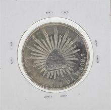 1900 MoAM Mexico Silver Peso Coin